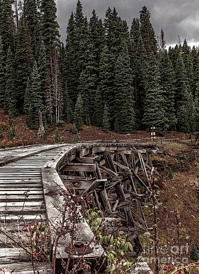 Photograph - Abandoned Trestle by Susan Warren