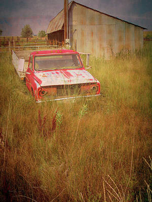 Photograph - Abandoned Truck In The Grass by David King