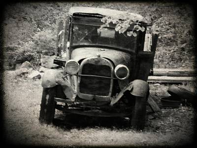 Photograph - Abandoned Truck by Michael L Kimble