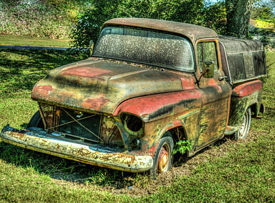 Photograph - Abandoned Truck With Damaged Grill by Douglas Barnett