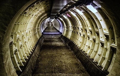 Line Movement Wall Art - Photograph - Abandoned Tunnel by Martin Newman