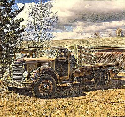 Digital Art - Abandoned Vehicle Canol Project 1945 by Barb Cote