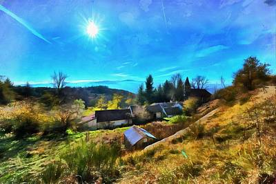 Photograph - Abandoned Village In The Liguria Apennines Paint - Paese Abbandonato Dell'appennino Ligure by Enrico Pelos