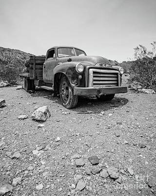 Photograph - Abandoned Vintage Gmc Truck In The Desert by Edward Fielding