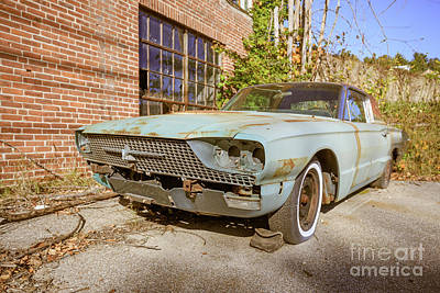 Abandoned Vintage Old Car Weare New Hampshire Art Print