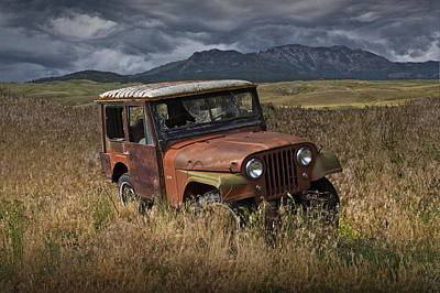 Vandalize Photograph - Abandoned Vintage Willy Jeep by Randall Nyhof