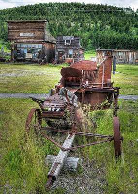 Abstract Male Faces - Abandoned Wagon by Doug Matthews