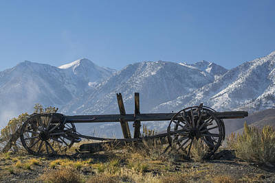 Photograph - Abandoned Wagon In The High Sierra Nevada Mountains by Frank Wilson