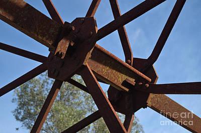 Abandoned Water Extraction Wheel Mechanism 3 Art Print