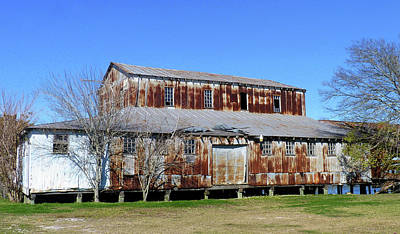 Photograph - Abandoned Waterfront Building In Apalachicola, Florida by Carla Parris
