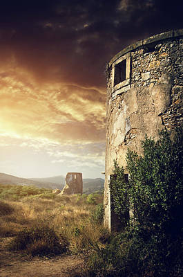Abandoned Buildings Photograph - Abandoned Windmills by Carlos Caetano