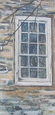 Painting - Abandoned Window by Paula Pagliughi