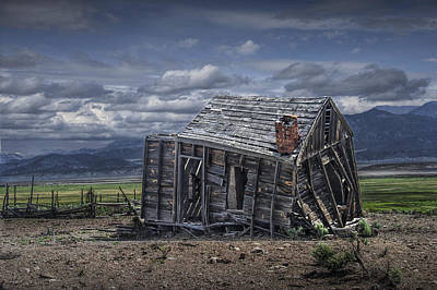Photograph - Abandoned Wood Frontier Cabin In Utah by Randall Nyhof