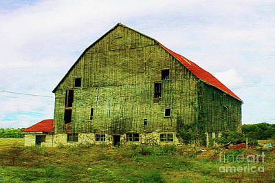 Old Barn Drawing Photograph - Abandoned Wooden Barn by Anthony Djordjevic