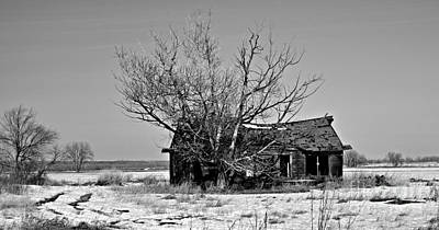 Photograph - Abandonment Bw by Chalet Roome-Rigdon
