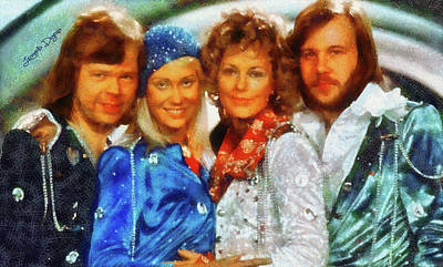 Seller Digital Art - Abba At Eurovision 1974 by Leonardo Digenio