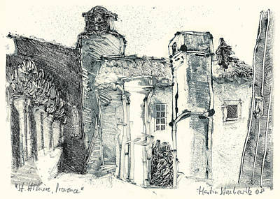 Painting - Abbaye Saint Hilaire, Near Menerbes,luberon,provence by Martin Stankewitz