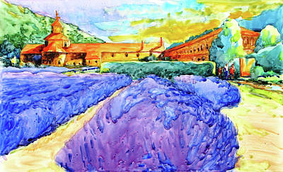 Abbey De Senanque, Provence No. 1 Print by Virgil Carter
