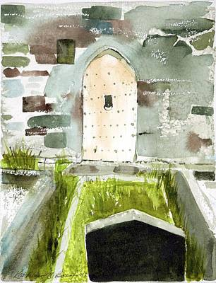 Abbey Door Art Print