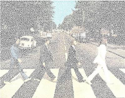 Abbey Road Beatles Songs Mosaic Art Print