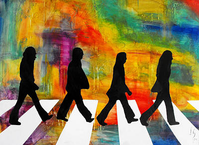 Spiritual.realistic Painting - Abbey Road by Ivan Guaderrama