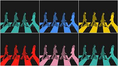 Mccartney Mixed Media - Abbey Road Pop Art Panels by Dan Sproul