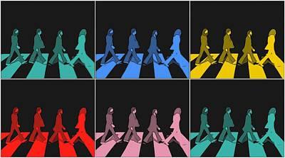 Abbey Road Pop Art Panels Art Print