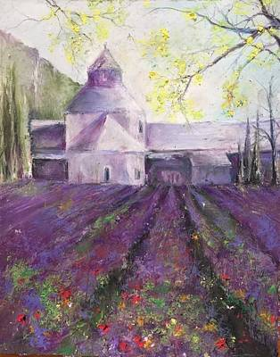 Painting - Abbey Senanque    by Robin Miller-Bookhout