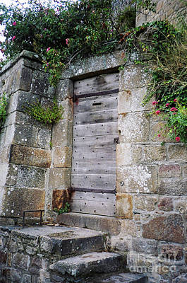Photograph - Abbey Side Door by Donna L Munro