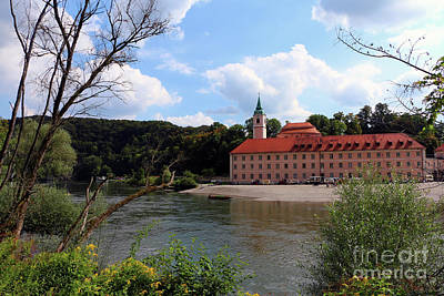Abbey Weltenburg And Danube River Art Print by Christiane Schulze Art And Photography