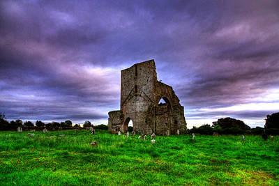 Abbeylara Abbey Art Print by Kim Shatwell-Irishphotographer