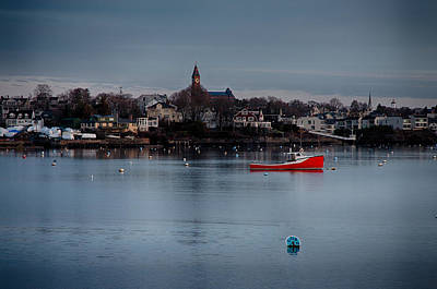 Photograph - Abbot Hall On Marblehead Harbor At Christmas by Jeff Folger