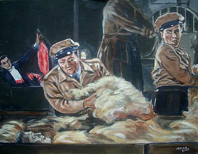 Abbott And Costello Meet Frankenstein Art Print by Bryan Bustard