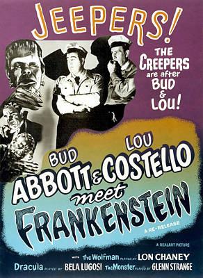 Wolfman Photograph - Abbott And Costello Meet Frankenstein by Everett