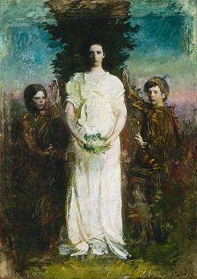 Up Up And Away - Abbott Handerson Thayer - My Children by Abbott Handerson Thayer