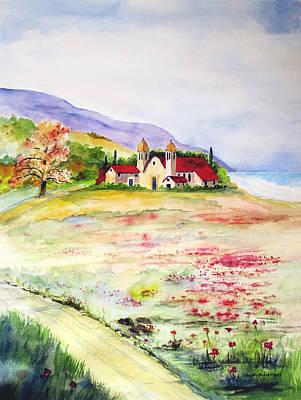 Abby By The Sea Art Print by John Wolfersberger