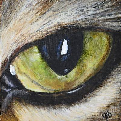 Painting - Abby Eye by Maria Arias