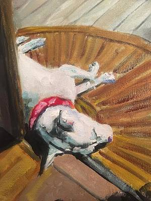 Leipers Fork Painting - Abby In Sunshine by Susan Elizabeth Jones