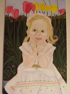 First Daughters Painting - Abby by Johnny Gage