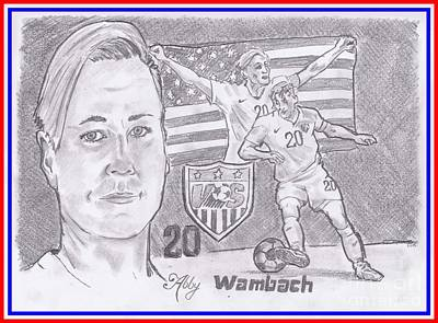 Drawing - Abby Wambach by Chris DelVecchio