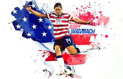 Landon Donovan Digital Art - Abby Wambach by Semih Yurdabak