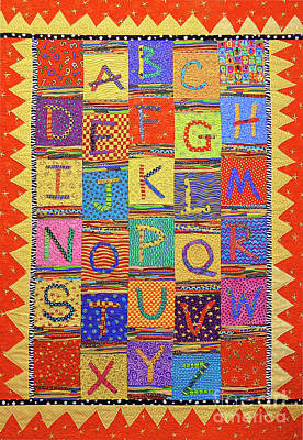 Tapestry - Textile - Abc Celebration by Susan Rienzo