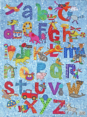 Tapestry - Textile - Abc Fun by Susan Rienzo