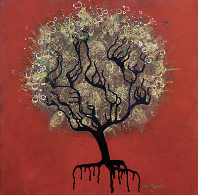 Drips Mixed Media - Abc Tree by Kelly Jade King