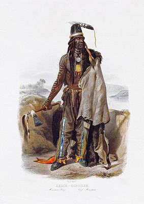 Painting - Abdih - Native American Indians Art Prints by Karl Bodmer