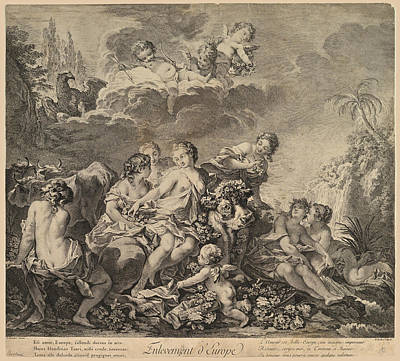 Drawing - Abduction Of Europa by Pierre-Alexandre Aveline
