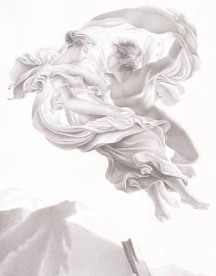 Abduction Drawing - Abduction Of Psyche by Therese Macdonale