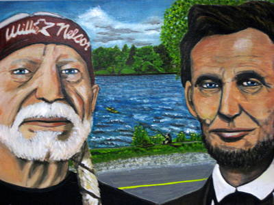 Abe And Willie Art Print by Joshua Bloch