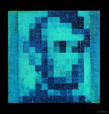 Abe In Aqua Original by Rob Hans
