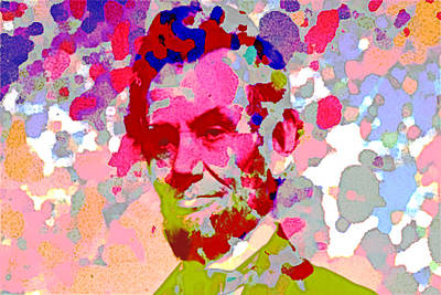 Abraham Lincoln Painting - Abe Lincoln Pop Art  by Enki Art